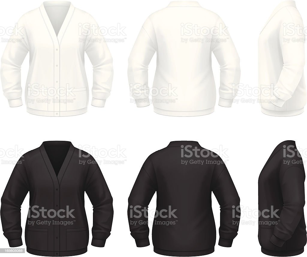 Thick Cardigan royalty-free thick cardigan stock vector art & more images of black color