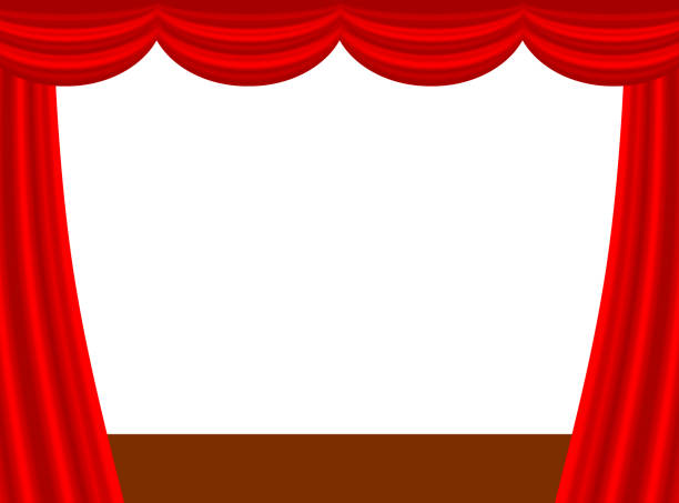 illustrazioni stock, clip art, cartoni animati e icone di tendenza di thick curtain - sipario