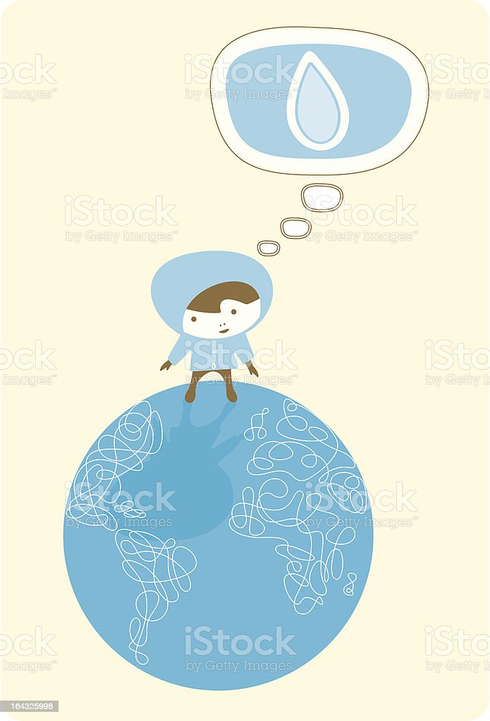 Think World Water royalty-free stock vector art