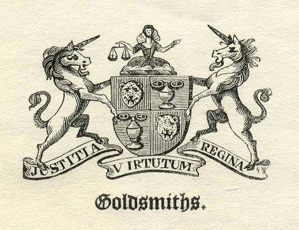 Worshipful Company of Goldsmiths armorial vector art illustration