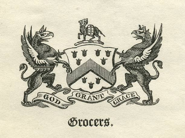 Worshipful Company of Grocers armorial vector art illustration