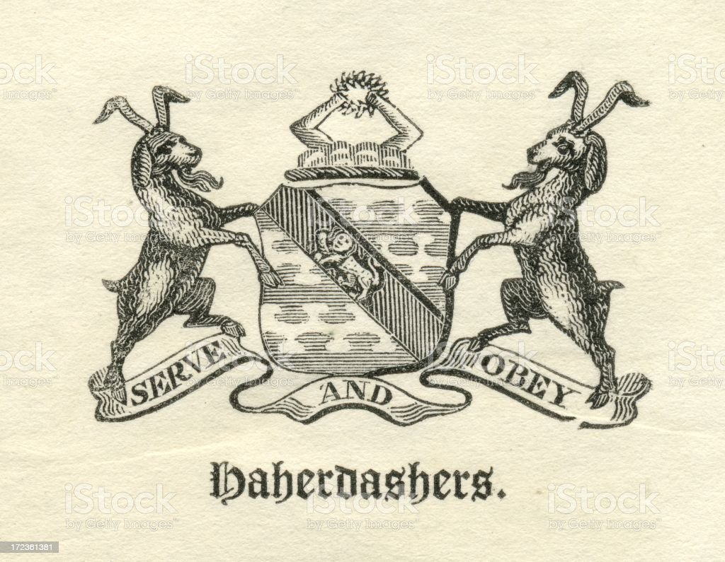 Worshipful Company of Haberdashers armorial vector art illustration