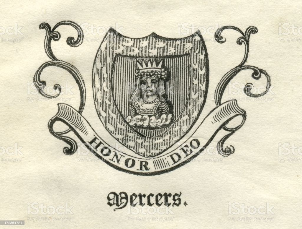 Worshipful Company of Mercers armorial vector art illustration