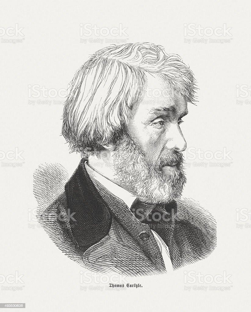 トマ Carlyle (1795-1881 )、スコットランド essayist 、1871 年に発表された ベクターアートイラスト