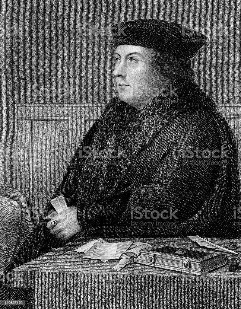 Thomas Cromwell, 1st Earl of Essex vector art illustration