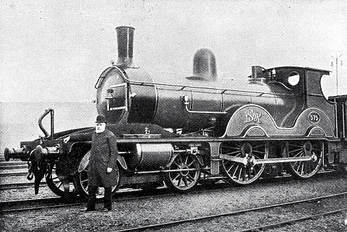 Thomas Higgs with a steam locomotive used when the queen traveled