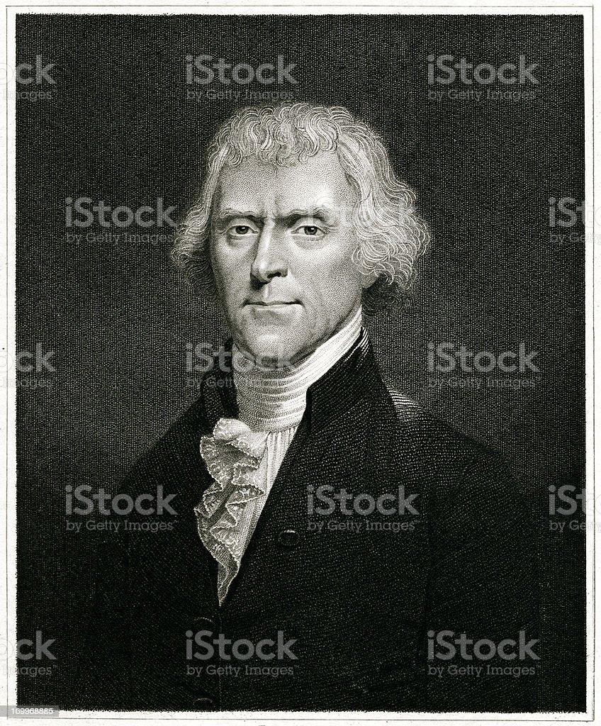 Thomas Jefferson vector art illustration