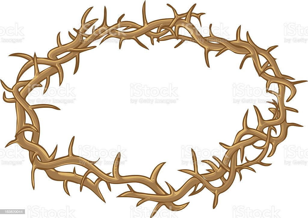Thorn Crown - Color royalty-free thorn crown color stock vector art & more images of celebration event