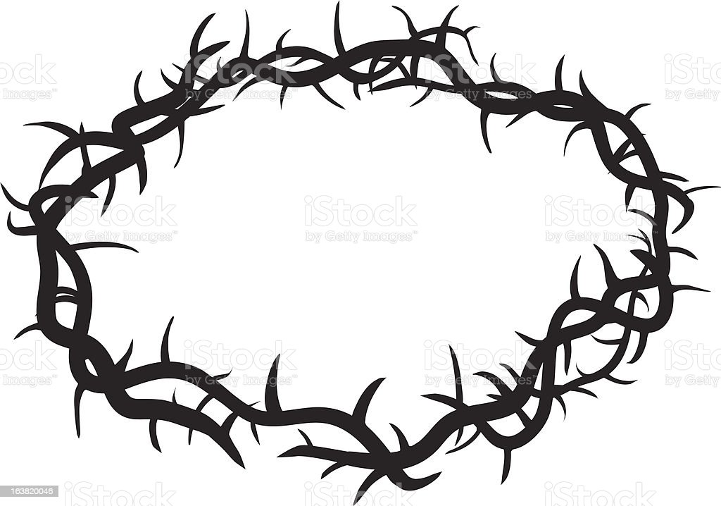 royalty free crown of thorns clip art vector images illustrations rh istockphoto com crown of thorns clip art religion free crown of thorns clipart black and white