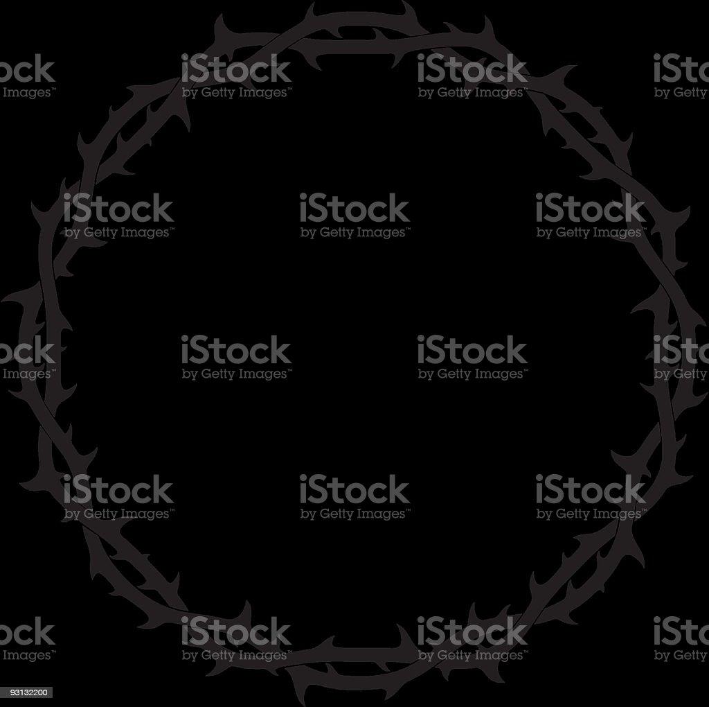 Thorned Crown Set (Vector) - Royalty-free Amerikaanse volksstammen vectorkunst
