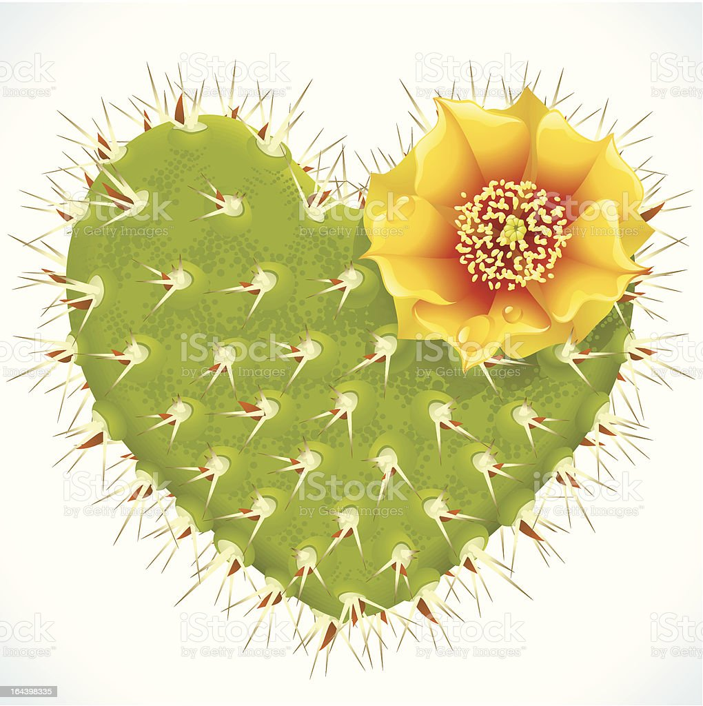 Thorny heart royalty-free stock vector art