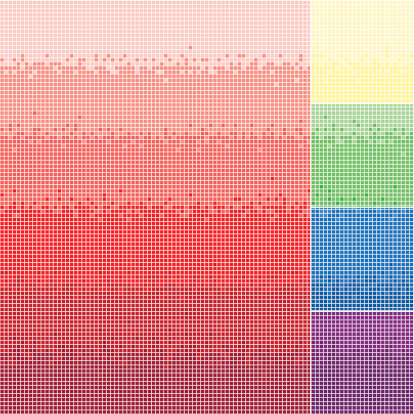 Thousands of pixels in gradient color