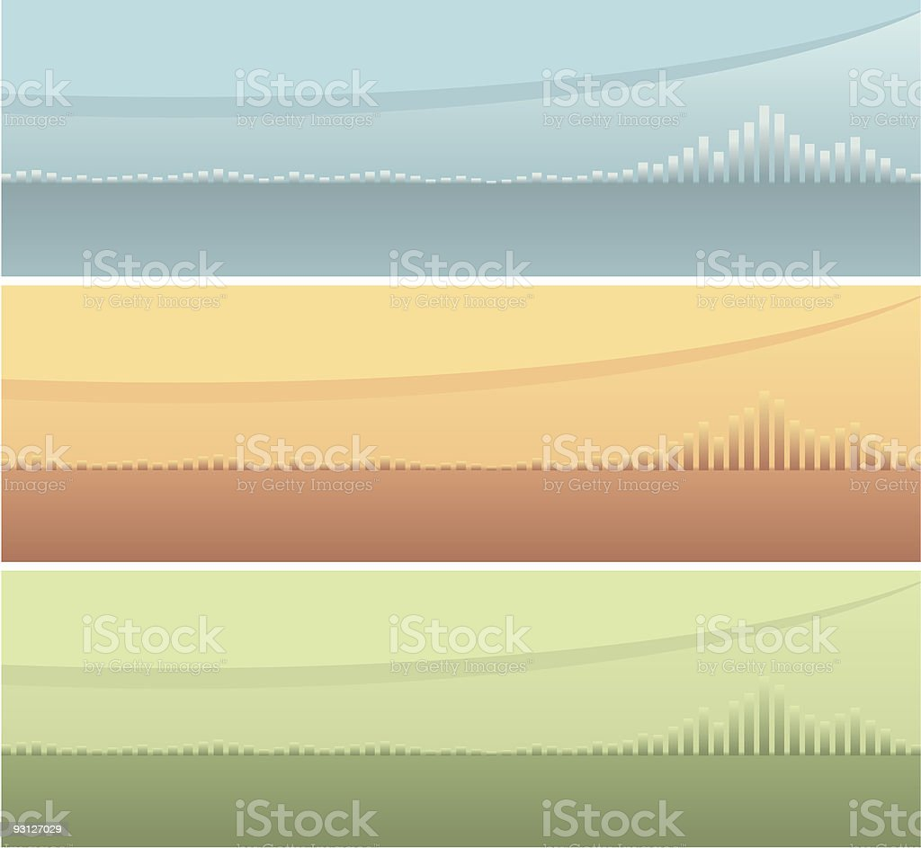 Three Abstract Website Banners royalty-free stock vector art