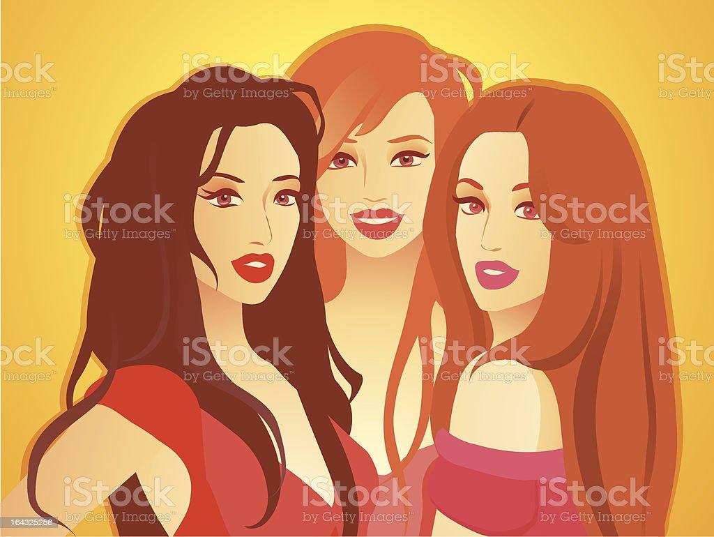three beautiful girls royalty-free three beautiful girls stock vector art & more images of adolescence
