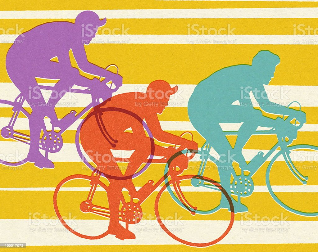 Three Bicycles royalty-free stock vector art