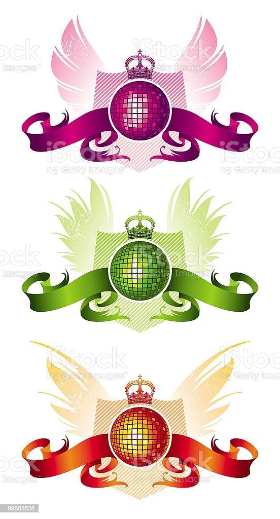 Drei disco Ball mit Rüschen Lizenzfreies drei disco ball mit rüschen stock vektor art und mehr bilder von band