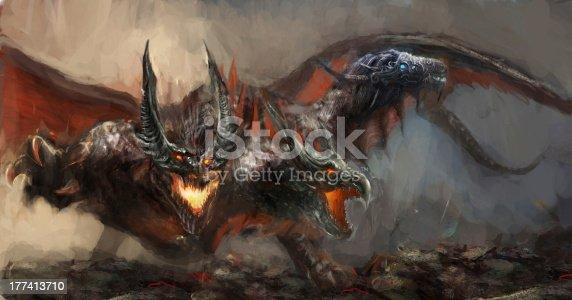 istock three headed dragon 177413710