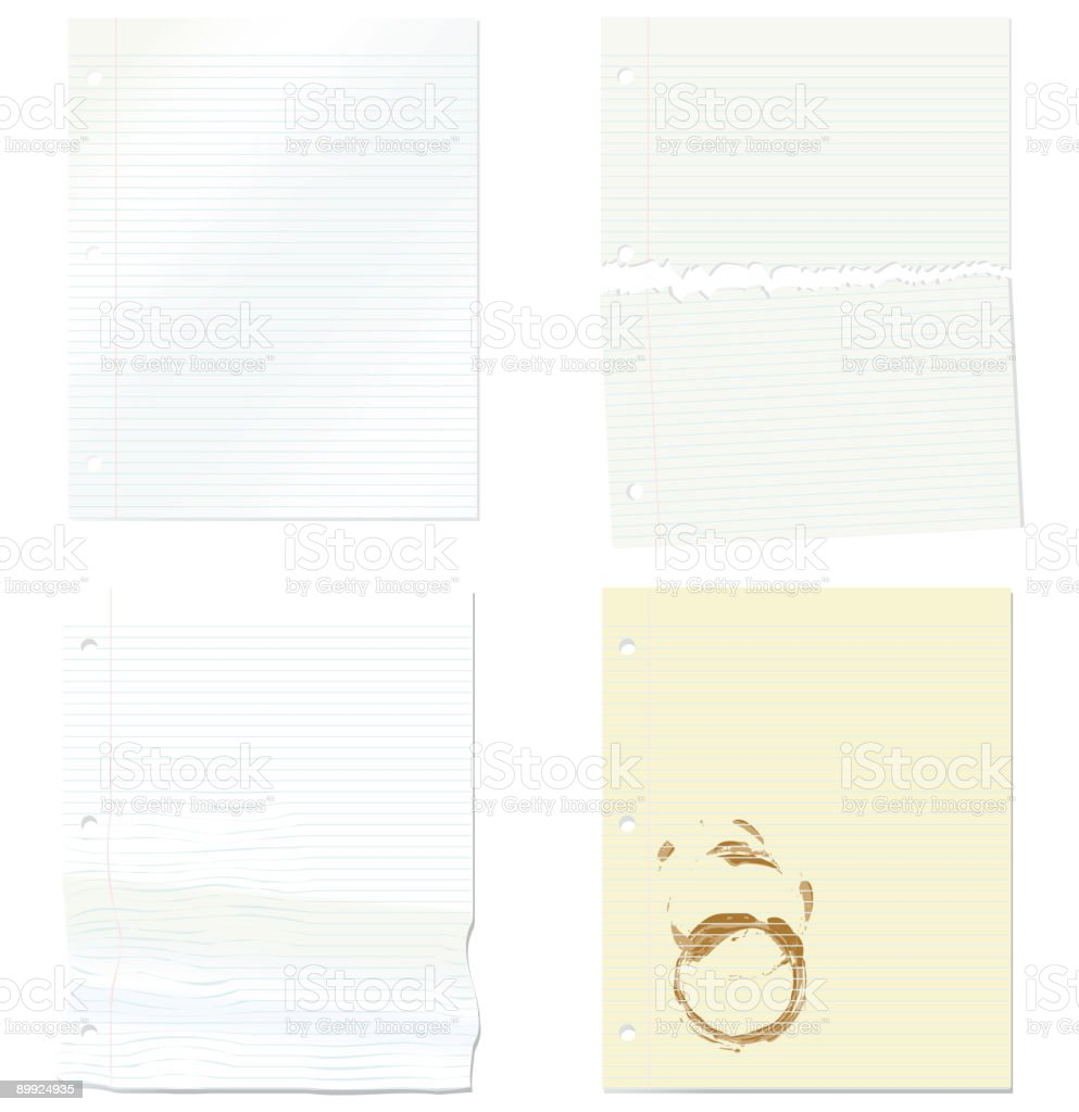 Three Hole Punch Paper Background Elements royalty-free stock vector art