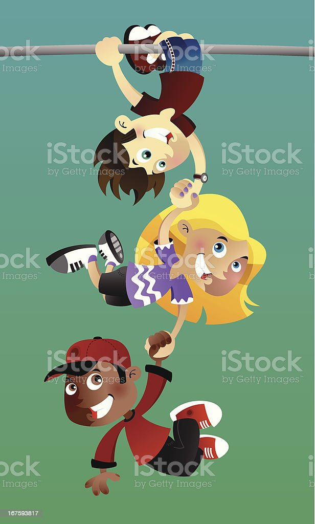 Three kids hanging out. royalty-free three kids hanging out stock vector art & more images of assistance