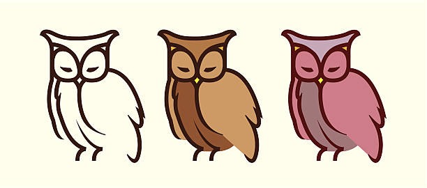 Screech Owl Illustrations, Royalty-Free Vector Graphics