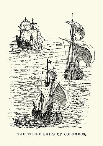 Three ships of Christopher Columbus, Santa María, Nina and the Pinta