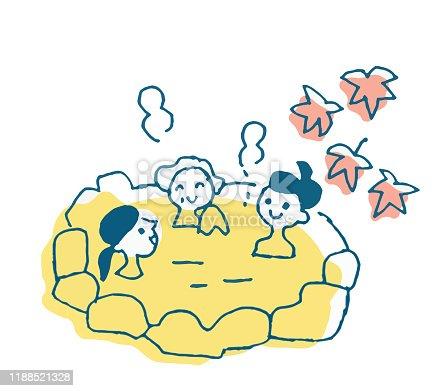 istock Three women taking an outdoor bath 1188521328