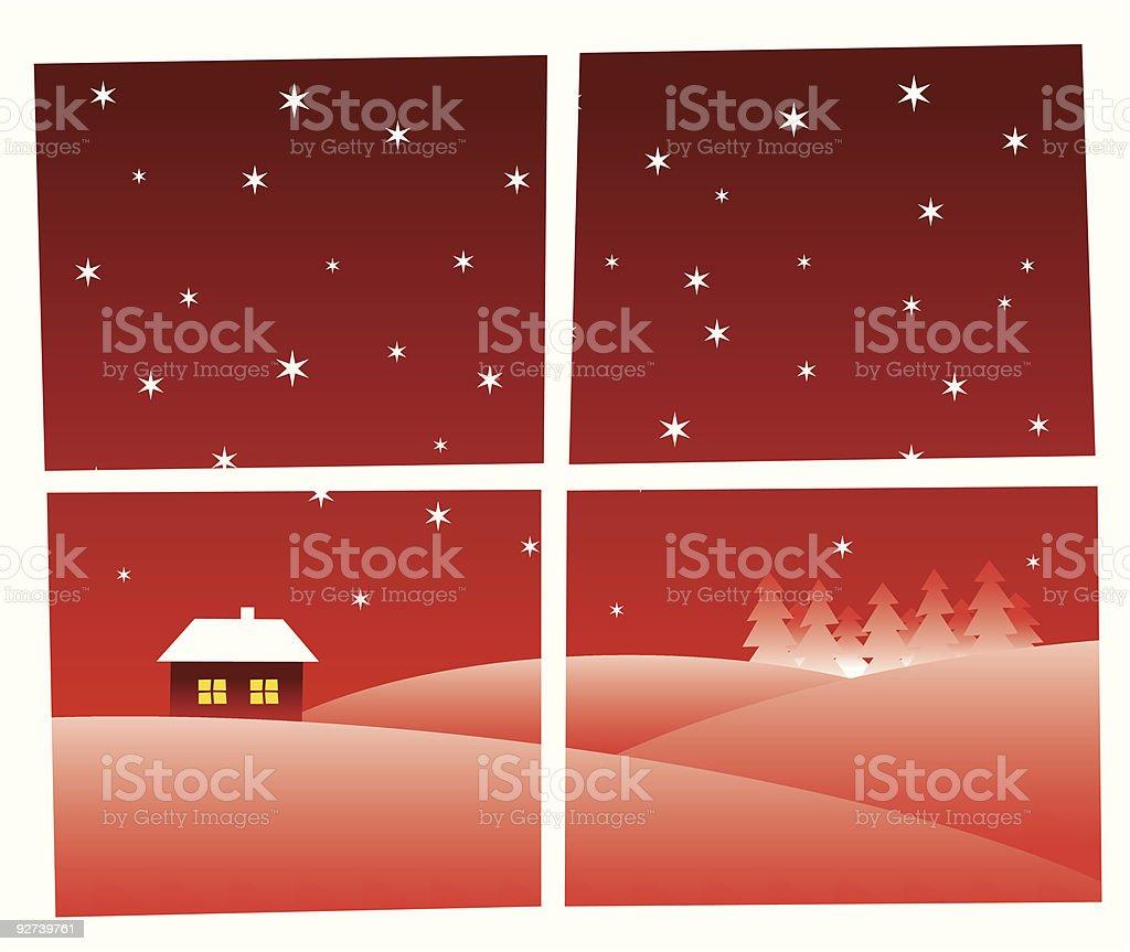 Through the window - christmas greetings card royalty-free stock vector art
