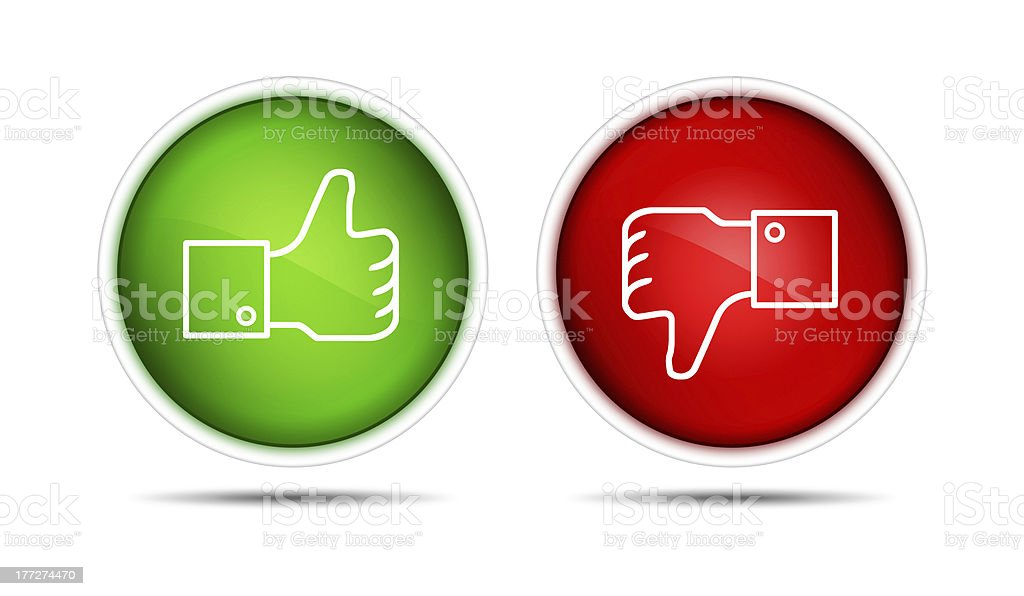 Thumb Up And Down Buttons royalty-free stock vector art