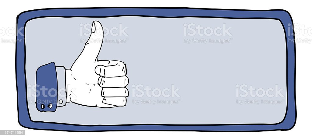 Thumbs up banner royalty-free thumbs up banner stock vector art & more images of blue