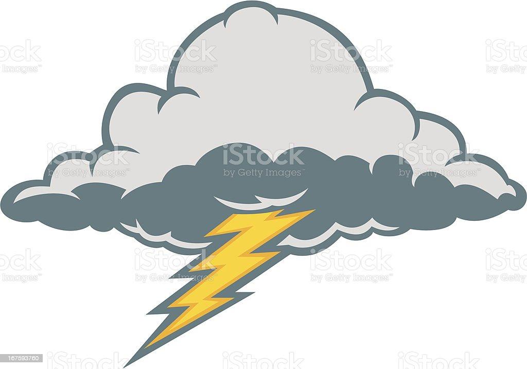 thunder cloud royalty-free stock vector art