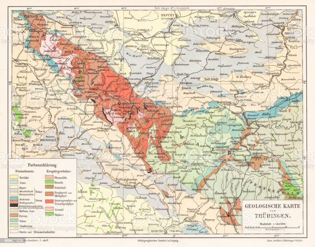 Carte Allemagne Thuringe.Carte Dallemagne Thuringe 1895 Vecteurs Libres De Droits Et Plus D