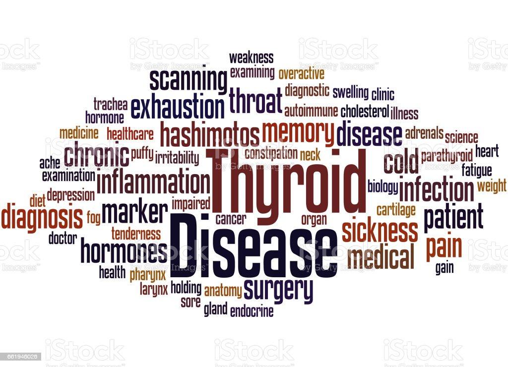 Thyroid Disease, word cloud concept 8 vector art illustration