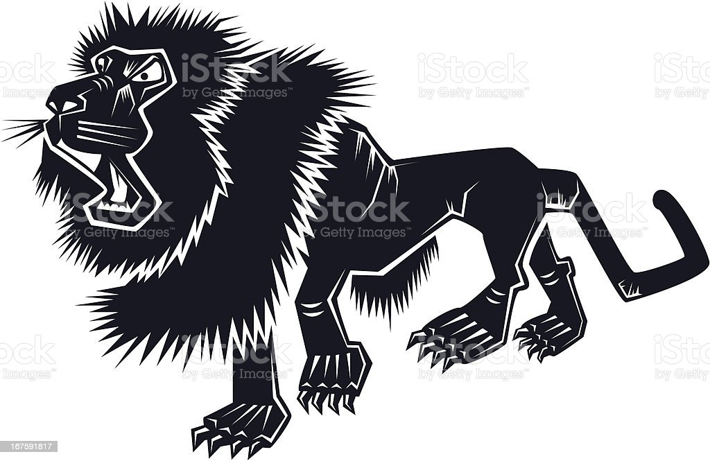 Tibetan Mastiff vector art illustration
