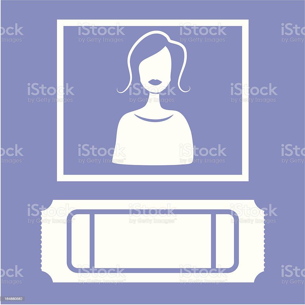 Icône de vente de billets - Illustration vectorielle