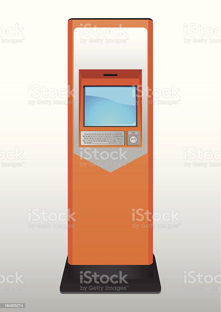 ticket terminal royalty-free stock vector art