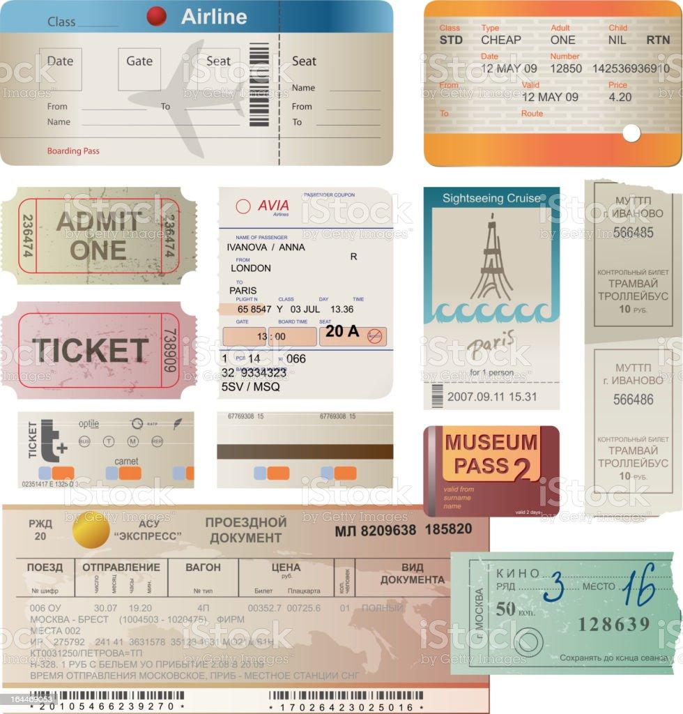 tickets für – Vektorgrafik
