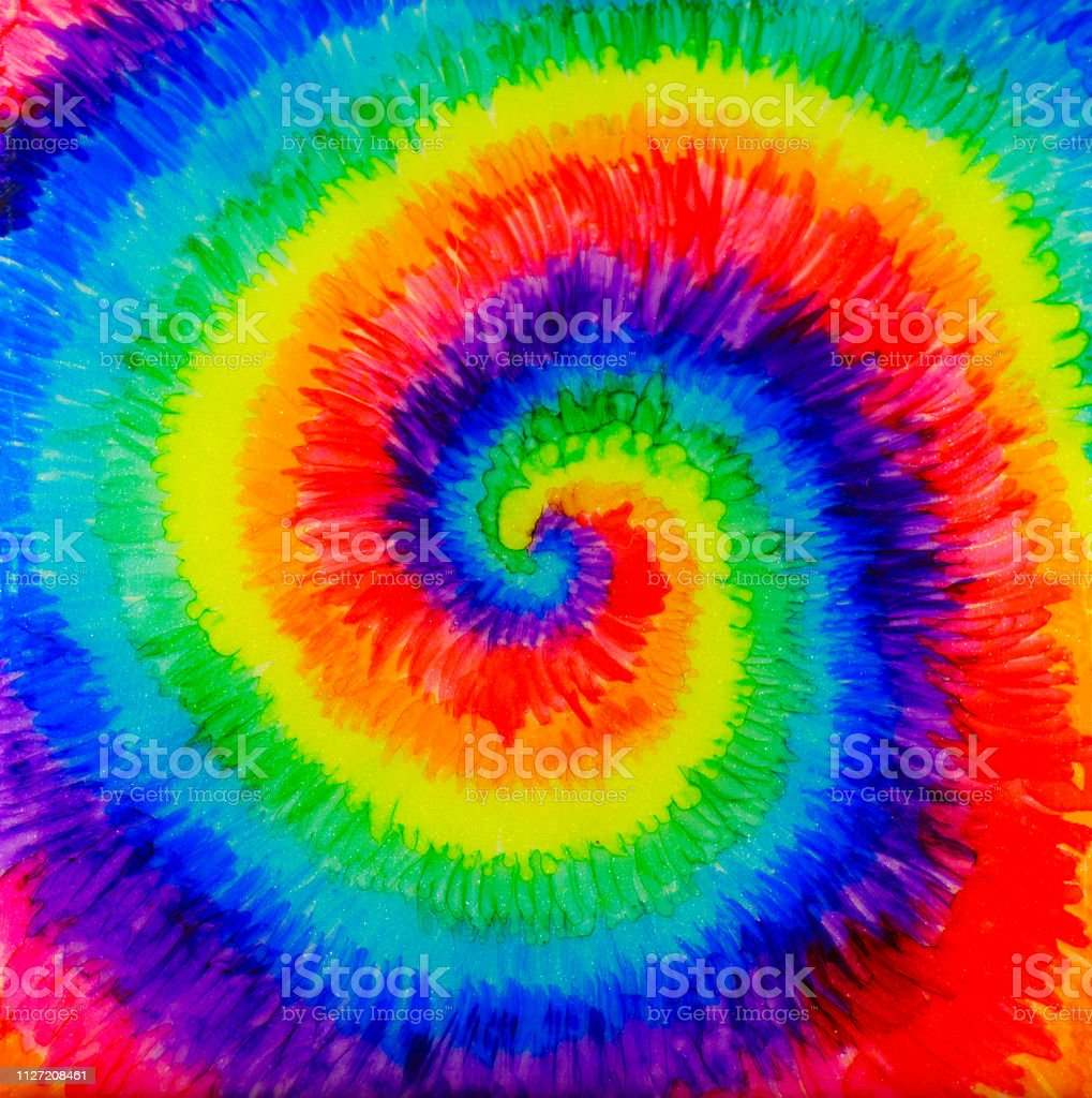 Tie-Dye Alcohol Ink Painting vector art illustration