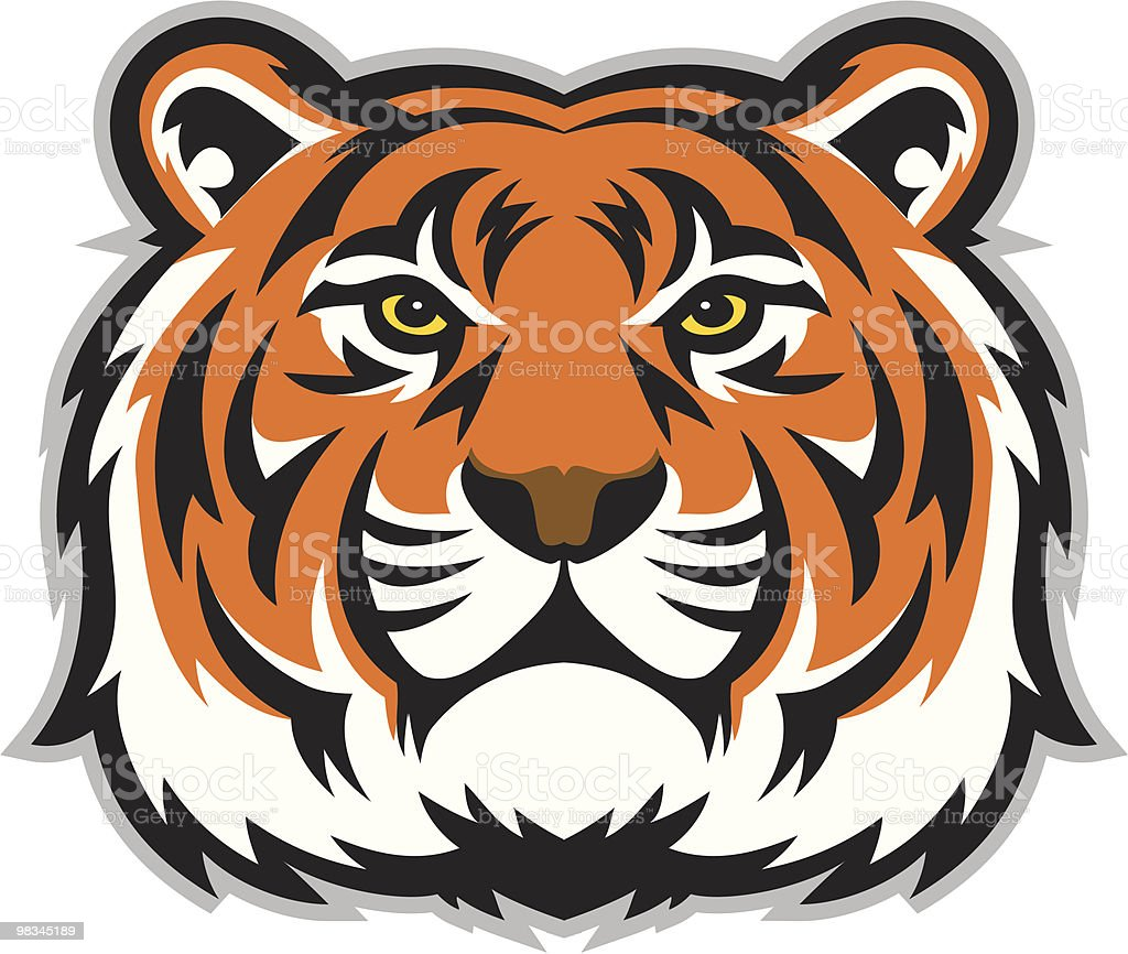 Tiger Face royalty-free tiger face stock vector art & more images of animal body part