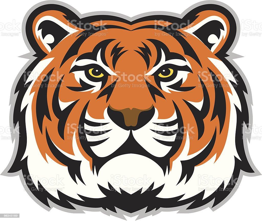 Tiger Face vector art illustration