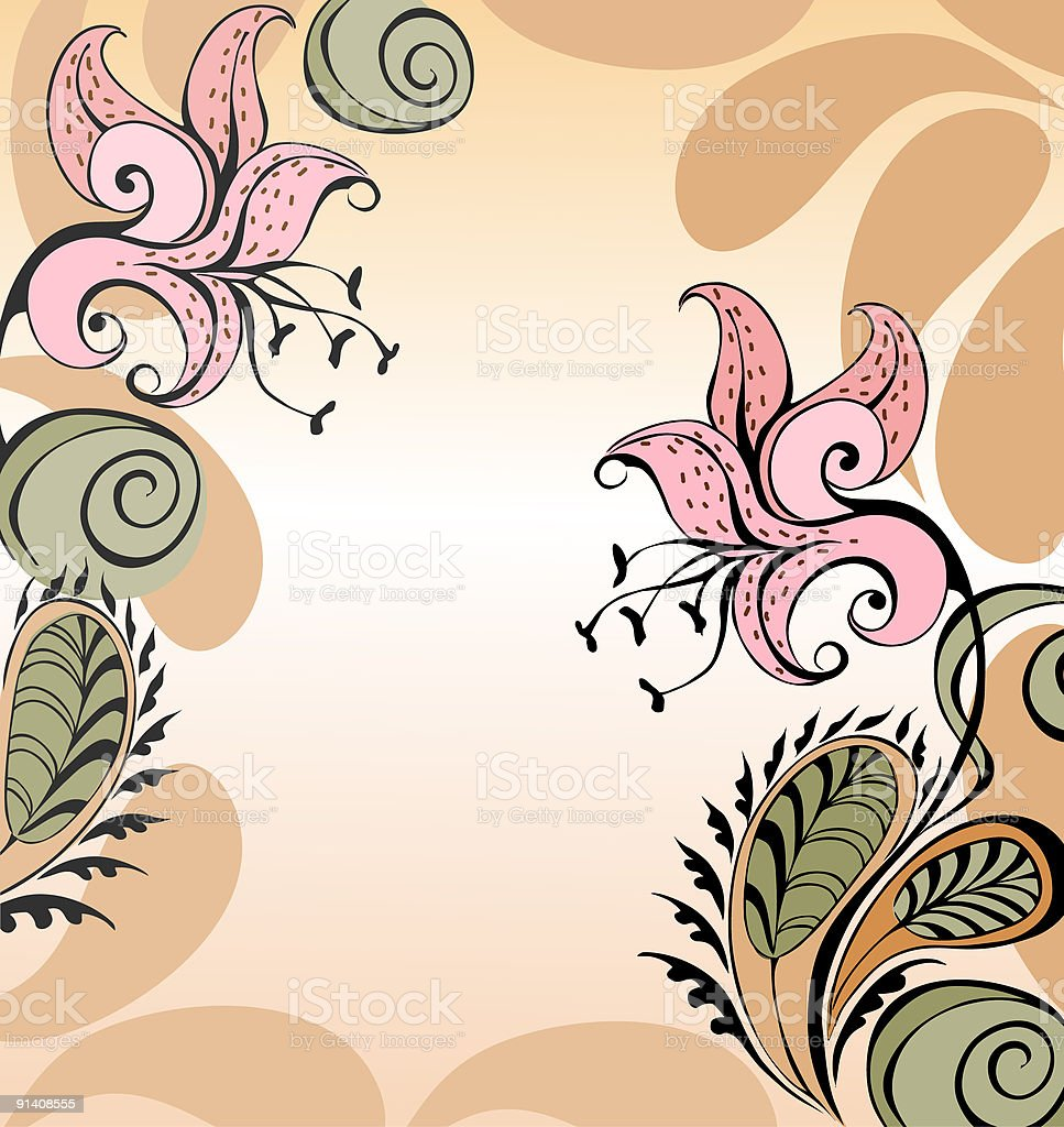 Tiger lily royalty-free stock vector art