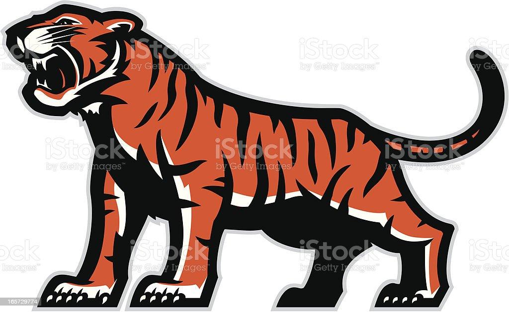 Tiger mascot royalty-free stock vector art