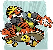 """""""Ripping through the air, this Tiger is going for a land speed record."""""""