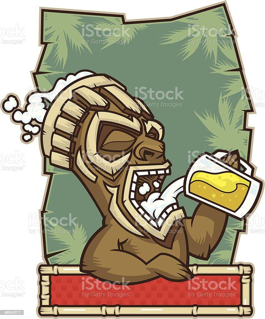 Tiki Bar Drinking royalty-free tiki bar drinking stock vector art & more images of art and craft