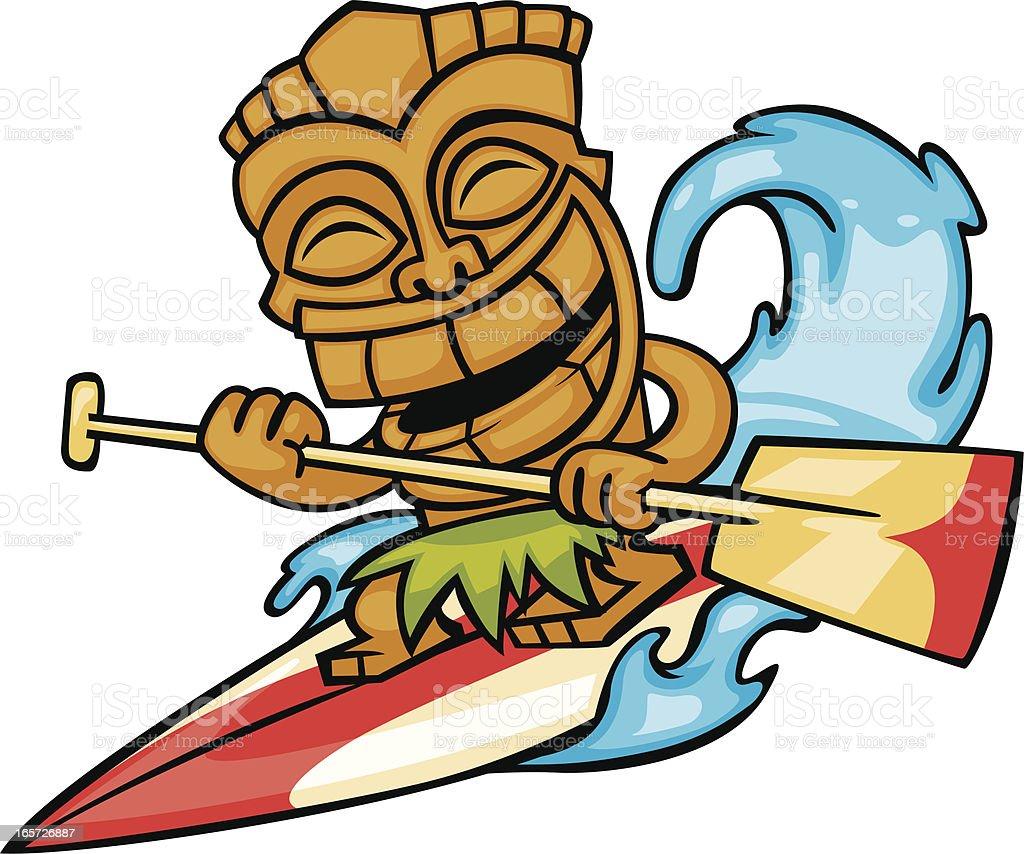 tiki paddle surf royalty-free stock vector art