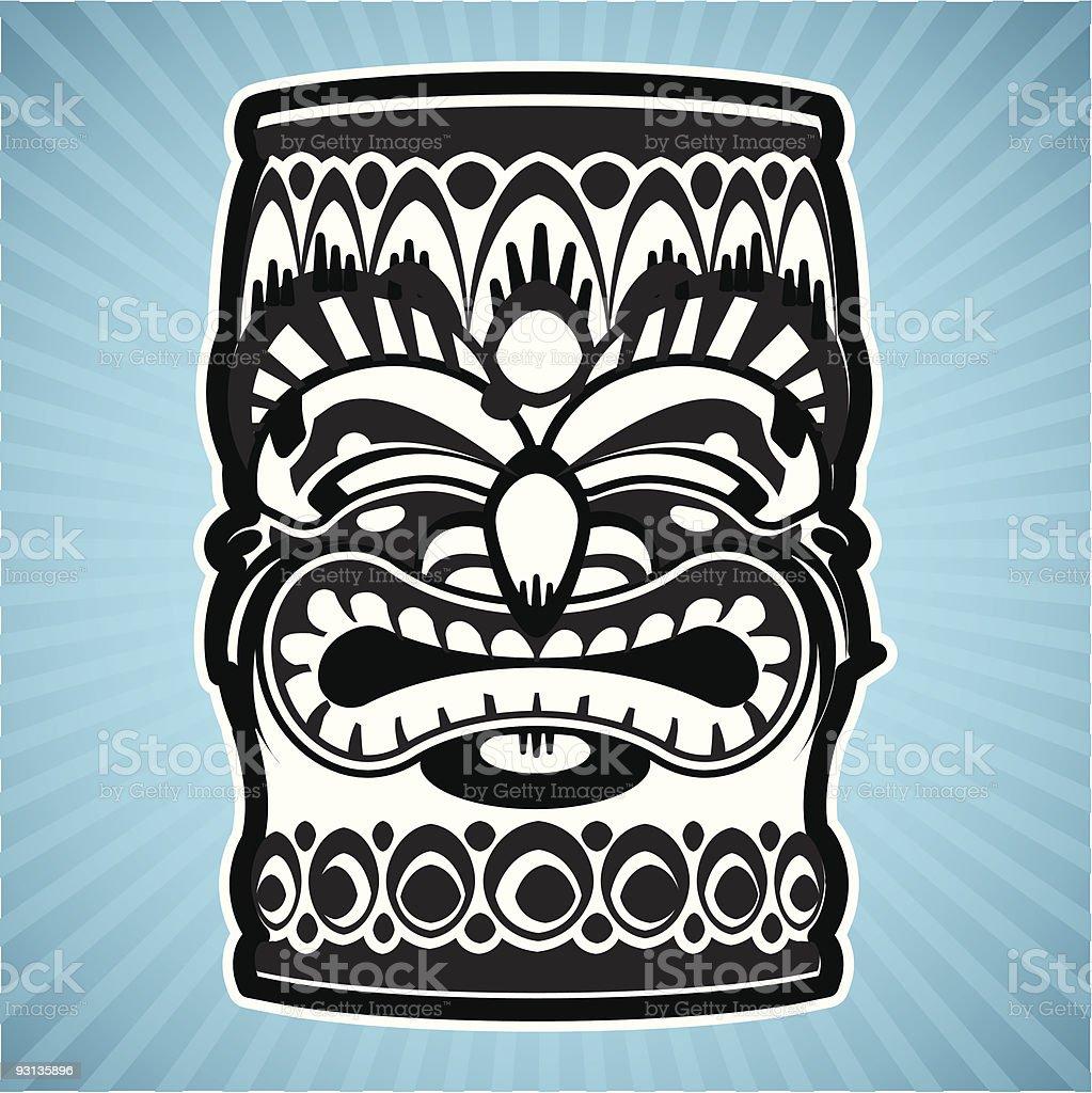 Tiki Totem royalty-free tiki totem stock vector art & more images of anger