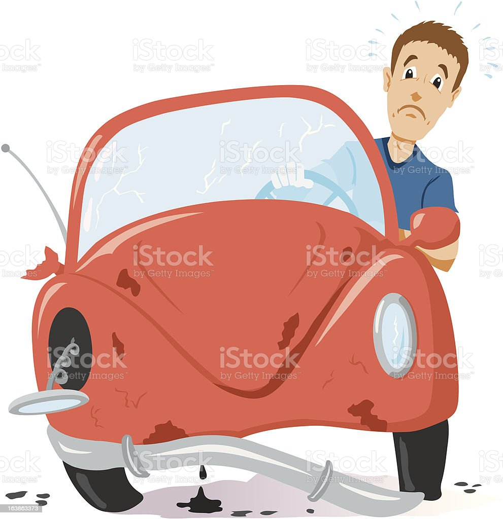 Time for a new car vector art illustration