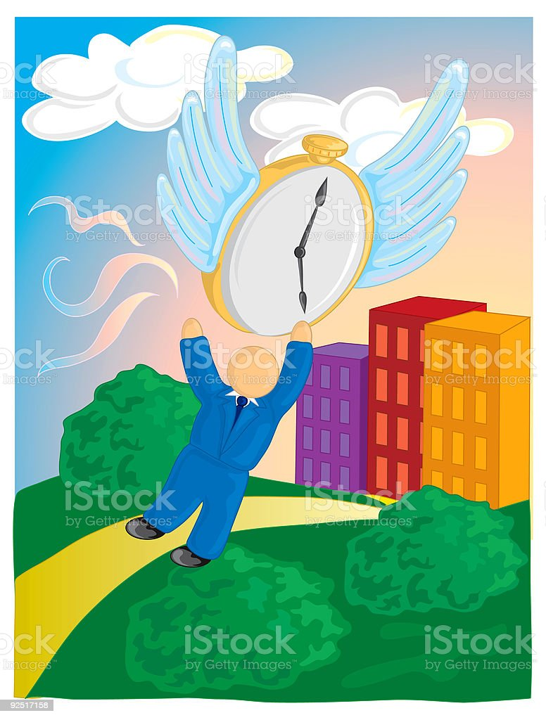Time getting away royalty-free stock vector art