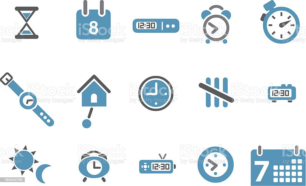 Time Icon Set vector art illustration