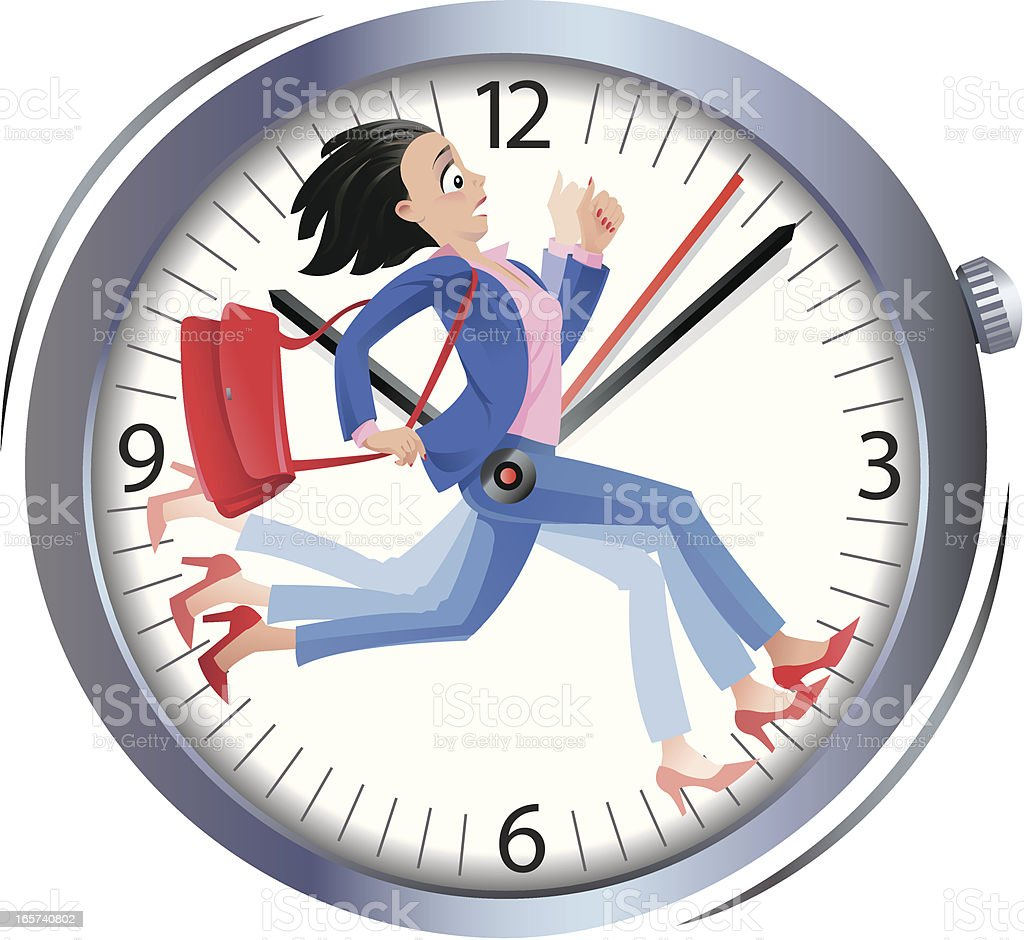 Time is Running royalty-free stock vector art