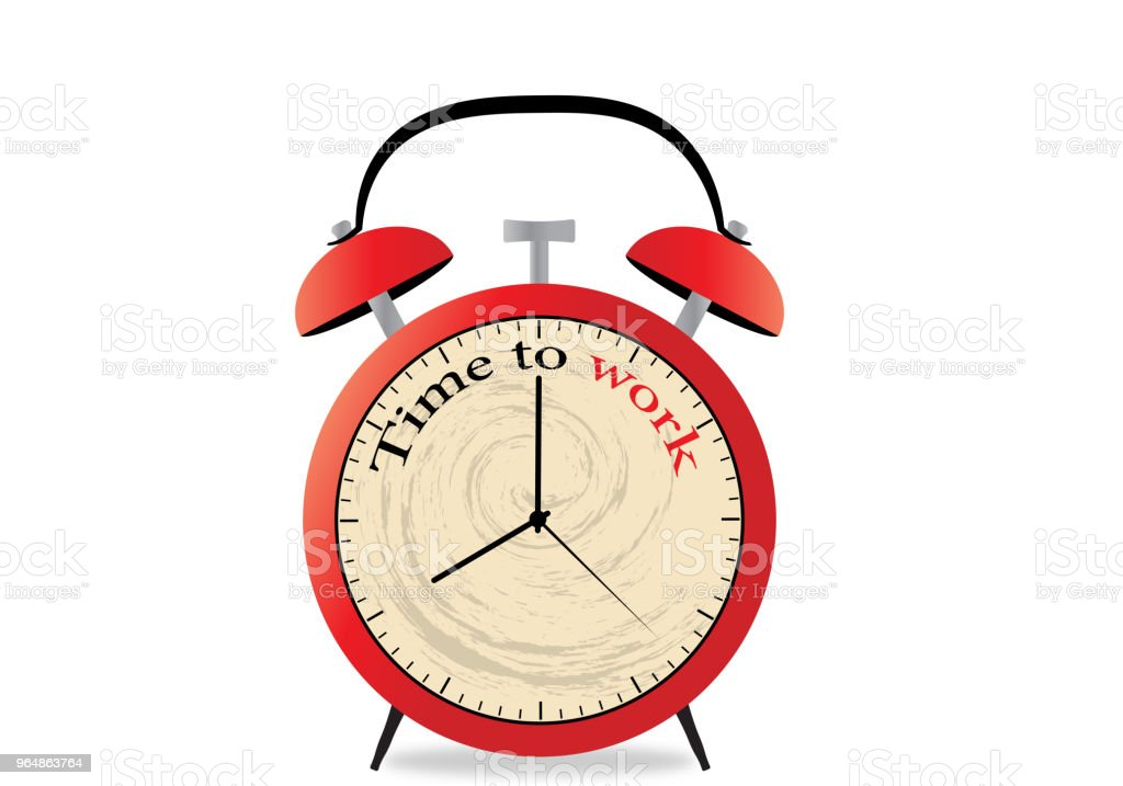 time to work on red alarmclock royalty-free time to work on red alarmclock stock vector art & more images of aging process